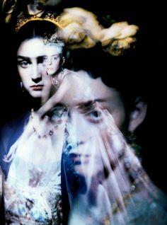Kasia Pysiak and Rachel Kirby by Paolo Roversi - Vogue Italia Jan 1998.