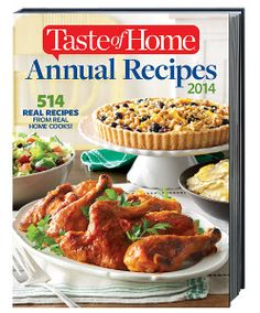 Enter to win the Taste of Home Annual Recipes 2014 Cookbook in RecipeLion's latest giveaway contest!