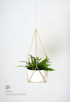 Nalle's House: DIY Brass Himmeli Hanging Planter