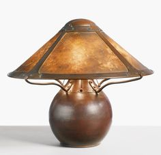 DIRK VAN ERP TABLE LAMP circa 1911; SnoWave: I like the shade and how it attaches to the base.  I'd change the base to be a form other than a sphere -- figurative, maybe.
