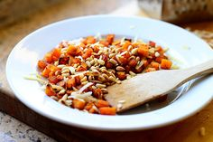 Roasted Butternut Squash with Pine Nuts and Parmesean