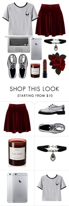 """""""No name"""" by herber01 ❤ liked on Polyvore featuring WithChic, American Retro, Byredo, Topshop, Chicnova Fashion and MAC Cosmetics"""