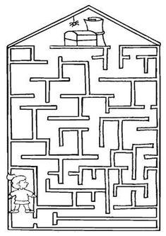 Free Simple Maze Printables For Preschoolers And Kindergartners - Tulamama Mazes For Kids, Flashcards For Kids, Printable Mazes, Printables, Color Activities, Preschool Activities, Maze Worksheet, Maze Puzzles, Hidden Pictures
