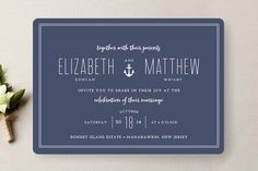 Down by the Sea Wedding Invitations by The Occasional Hello at minted.com