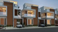 Headway Properties Launching CMDA APPROVED Gated Community project of plots and Villas at Vandalur. It is a fully developed Gated Community with all amenities. Headway Properties makes a great investment Terrace House Exterior, Townhouse Exterior, Modern Townhouse, Facade House, 2 Storey House Design, Bungalow House Design, House Front Design, Modern House Design, Duplex House Plans