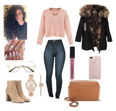 """""""#💎😇👑"""" by missmka ❤ liked on Polyvore featuring WithChic, Yves Saint Laurent, Michael Kors, MICHAEL Michael Kors, Smashbox and Yves Salomon"""