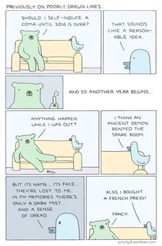Poorly Drawn Lines – Catching Up Funny Laugh, Hilarious, Ancient Demons, In A Nutshell, Rage, Shit Happens, Comics, Memes, Check