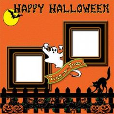 Don't have time to design your own scrapbook layouts? Let me help you. This layout is designed for your Halloween photos. This layout is sized 12 in Scrapbook Disney, Baby Scrapbook Pages, Halloween Scrapbook, Birthday Scrapbook, Scrapbook Templates, Scrapbook Sketches, Scrapbook Page Layouts, Scrapbook Cards, Halloween 2