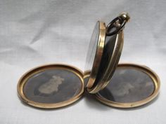 UNUSUAL POCKET WATCH CIVIL WAR PHOTO FRAME