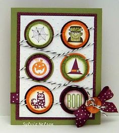 Fun card!  Use round stickers for any occasion!
