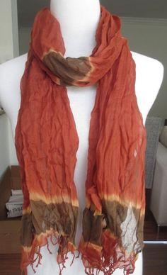 New AUTHENTIC Chan Luu Tie Dye Viscose Crinkle Scarf Burnt Henna Combo #ChanLuu #Scarf #ChanLuuScarf #TieDye #TieDyeChanLuuScarf #TieDyeScarf #OrangeScarf