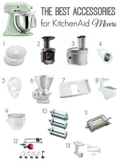 Best Accessories for Kitchen Aid Mixers.
