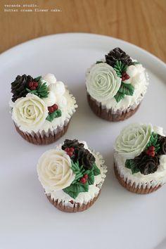 크리스마스 버터크림 플라워케이크 *베란다 스튜디오 : 네이버 블로그