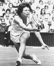 international tennis star Billie Jean King won a record twenty Wimbledon championships and helped win equal treatment for women in sports.