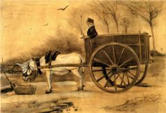 Donkey and Cart 1890. V V Gogh
