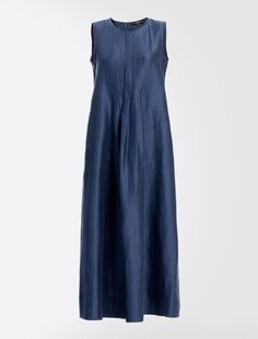 Linen And Silk Dress Navy Weekend Max Mara