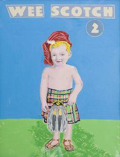 Magda Archer - Wee Scotch 2, Acrylic on Canvas Board, 2008