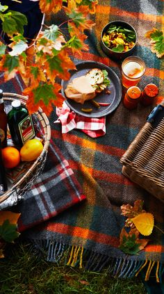 What about a tartan Thanksgiving picnic? How to plan an autumn nature party. Gather your friends & family to celebrate the changing of the seasons with great food, drink and more! Fall Picnic, Picnic Time, Fresco, Autumn Day, Autumn Summer, Autumn Nature, Autumn Leaves, Hello Autumn, Fall Days