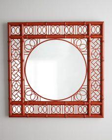 Oriental Mirror, red