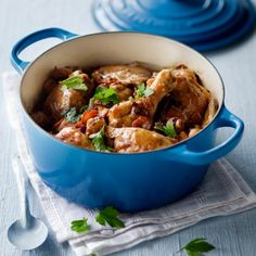 Who wouldn't want a stew cooked in this beauty? Le Creuset 30cm Round Cocotte in Marseille Blue, from @Yuppiechef