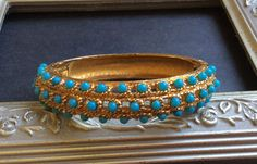 Jomaz Faux Turquoise Bead Bracelet by junquegrl on Etsy