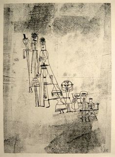 Paul Klee Lithograph, 1920s/30s.