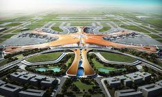 Zaha Hadid e ADPI divulgam proposta para o maior terminal de passageiros do mundo em Pequim