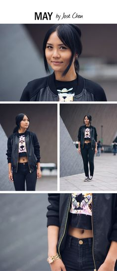 Streetstyle, casual, cool look | Photography by José Chan via: http://www.byjosechan.com/lady-black/