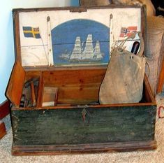 Sea Chest with Ditty Bag and Tools.