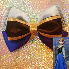 Bow inspired by Anna from Disneys frozen by BrookeHyland345, $6.00 @Anna Totten Goltermann here's the other