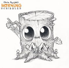 Chris Ryniak is creating Friendly Monster Drawings! Pencil Art Drawings, Art Drawings Sketches, Cartoon Drawings, Easy Drawings, Animal Drawings, Cartoon Art, Cute Monsters Drawings, Cartoon Monsters, Monster Drawing