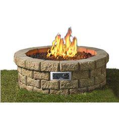 Outdoor Greatroom Hudson Fire Pit 46 Diameter Includes 59 Hudson Stone  Blocks