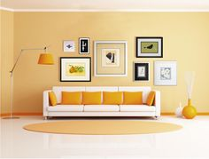 Groupings can include more than works of #art. This arrangement features framed dominoes and dried flowers. #WallDecor #WallGrouping