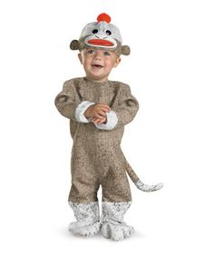 So cute!  Sock Monkey dress-up costume