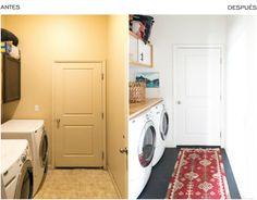 Antes y después cuarto lavadora : via La Garbatella