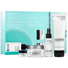 Algenist The Best of Algenist Collection   4 oz Gentle Rejuvenating Cleanser  1 oz Concentrated Reconstructing Serum   023 oz Complete Eye Renewal Balm   1 oz Firming  Lifting Cream  BNIB ** Be sure to check out this awesome product.(This is an Amazon affiliate link and I receive a commission for the sales)