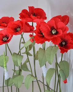 1,226 отметок «Нравится», 19 комментариев — Paper Flowers Бумажные Цветы (@papermintdecor) в Instagram: «#papermint_ученики И все-таки, мак должен быть красным!