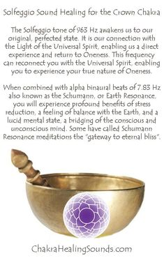 More about the Crown Chakra Here: