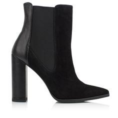 KACHOROVSKA / black suede ankle boots
