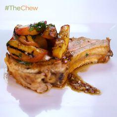 Michael Symon's Smoked Pork and Peaches #TheChew