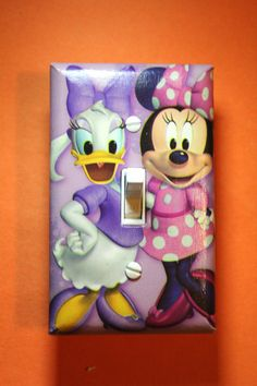 Disney Minnie Mouse and Daisy Light Switch Plate by ComicRecycled