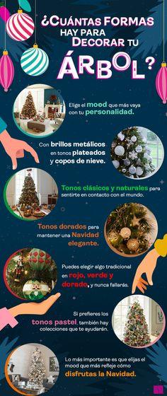 Descubre algunas formas para decorar tu arbolito e inspírate para esta Navidad. Liverpool, Food, Home Decorations, Furniture, Elegant Christmas, Handmade Home Decor, Home Decoration, Shapes, Essen