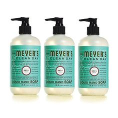 Mrs. Meyer's Clean Day Liquid Hand Soap, Basil, 12.5 Fluid Ounce (Pack of 3) - http://www.specialdaysgift.com/mrs-meyers-clean-day-liquid-hand-soap-basil-12-5-fluid-ounce-pack-of-3/