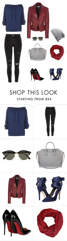 """Powerful Autumn"" by monika-irena-christensen on Polyvore featuring Free People, River Island, Ray-Ban, Givenchy, Balenciaga, Alice + Olivia, Christian Louboutin, The North Face and modern"
