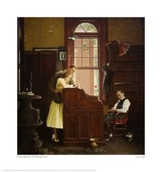 """Norman Rockwell """"Marriage License"""""""