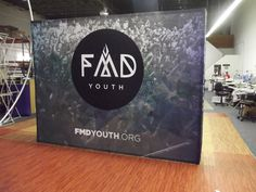 FMD Youth uses their new display to show off their logo!