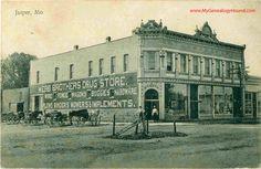 Jasper, Missouri, Webb Brothers Drug Store, vintage postcard, Historic Photo