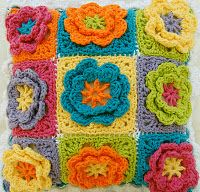 #Crochet pillows add great #decor to your home, especially the fun spring ones with flowers.