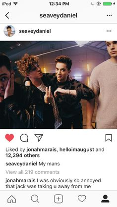jonahs always having relationship problems with jack and the other boys! first jack and corbyn now jack and daniel...poor lil jojo❤️