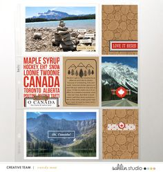 Canada hybrid scrapbooking layout created by ctmm4 featuring Project Mouse (World): Canada by Sahlin Studio and Britt-ish Designs
